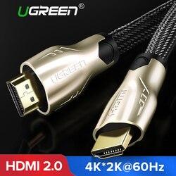 Ugreen HDMI كابل HDMI إلى HDMI 2.0 HDR 4 K 60Hz ل الفاصل موسع محول Nintend التبديل PS4 Xiaomi التلفزيون 5 m 10 m كابل HDMI
