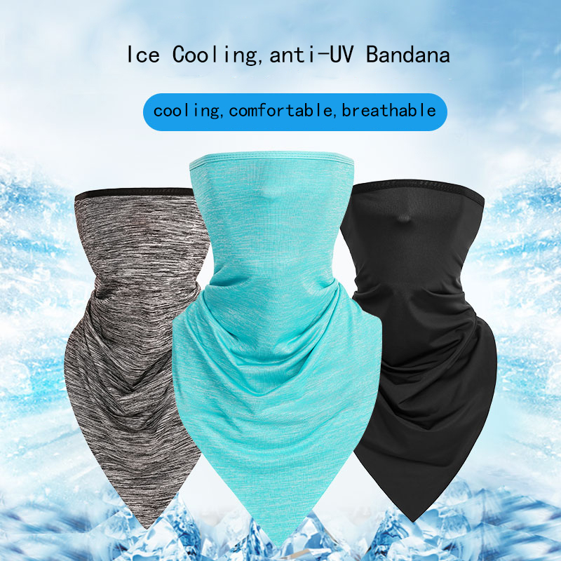 WOSAWE Cycling Half Face Mask Triangle Ice Fabric Bicycle Scarf Climbing Neck Gaiters Training Mask Anti UV Sport Protector in Cycling Face Mask from Sports Entertainment