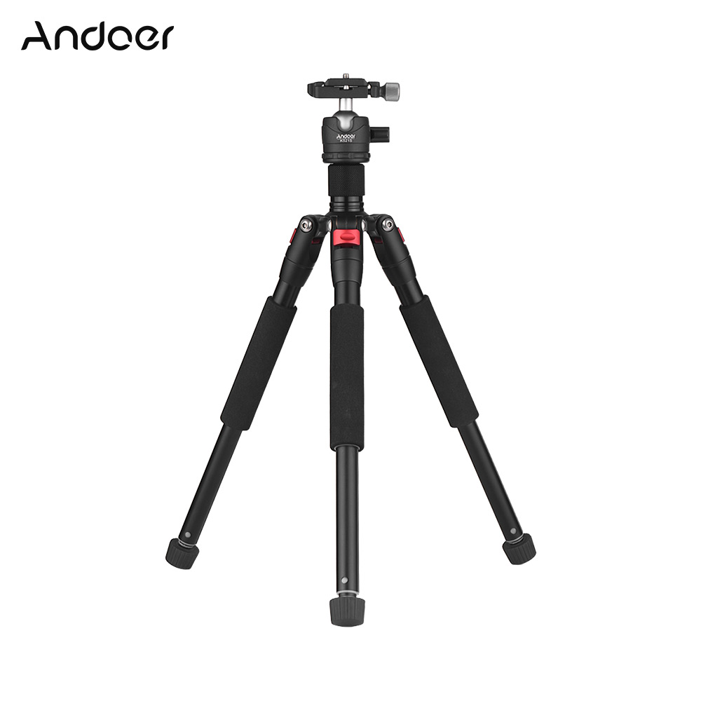 Andoer K521S Aluminum Alloy Tripod With Mini Ball Head Low Center Of Gravity 1/4