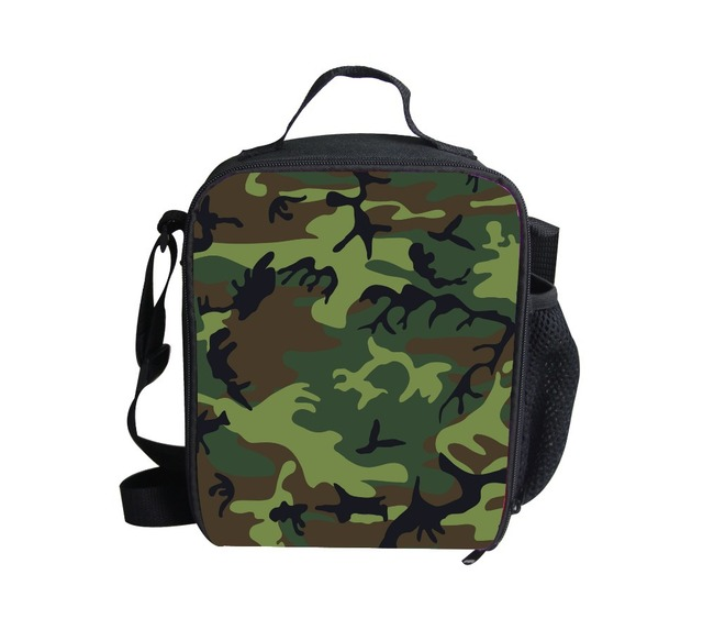 Forudesigns New Arrival Camouflage Lunch Bags Kids Campus Box Children Thermal Picnic Lunchbox Year