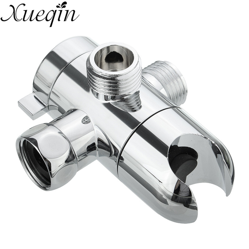 xueqin 3 way shower head holder water saving diverter combo polished chrome wall mounted shower