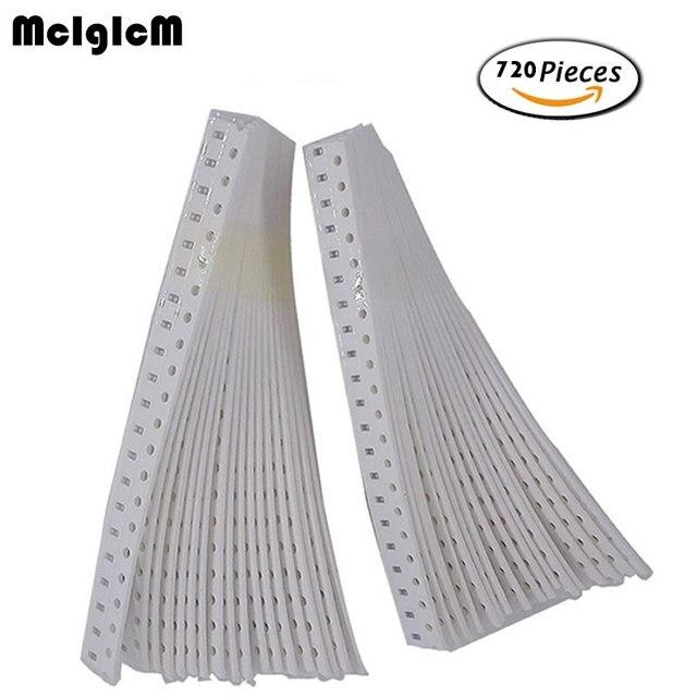 MCIGICM 0603 SMD конденсаторный систематизированный набор, 36values * 20pcs = 7 20pcs 1pF ~ 10 мкФ Образцы комплект электронных diy kit