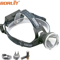 Boruit B10 Far Light USB Headlamp 4400mAh Led Headlight Rechargeable For Hunting 18650 Battery With Charger