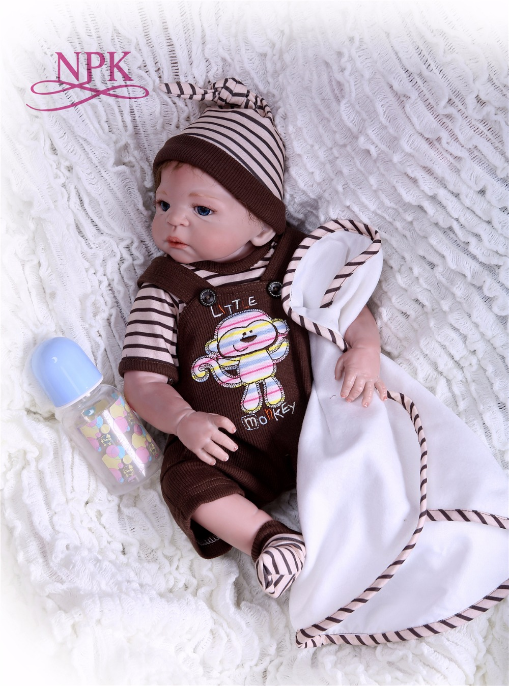 NPK New Arrival 48 cm Silicone Full Body Reborn Doll Real Life Princess Baby Doll For