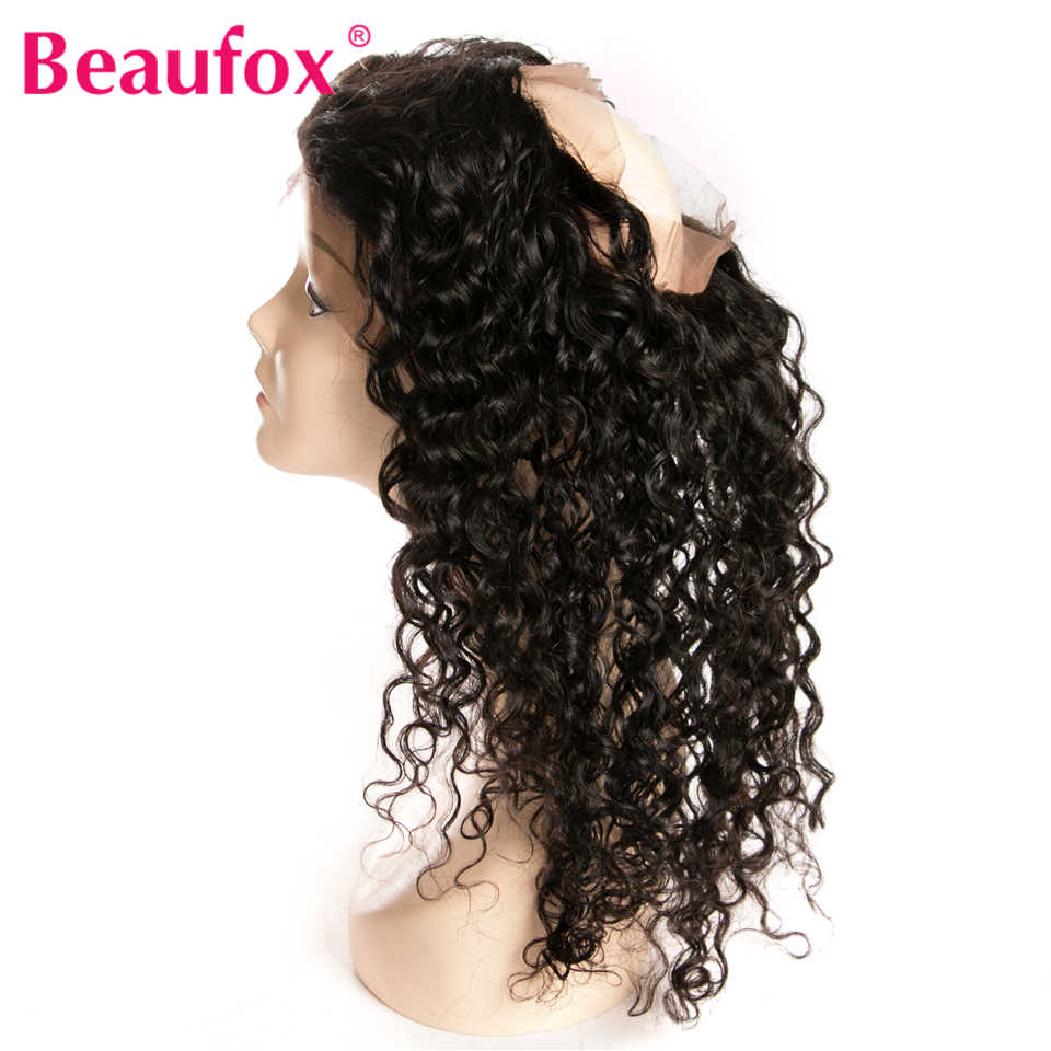Beaufox 360 Lace Frontal With Bundles Malaysian Water Wave Human Hair 3 Bundles With 360 Frontal Closure Remy Hair 4Pcs/Lot