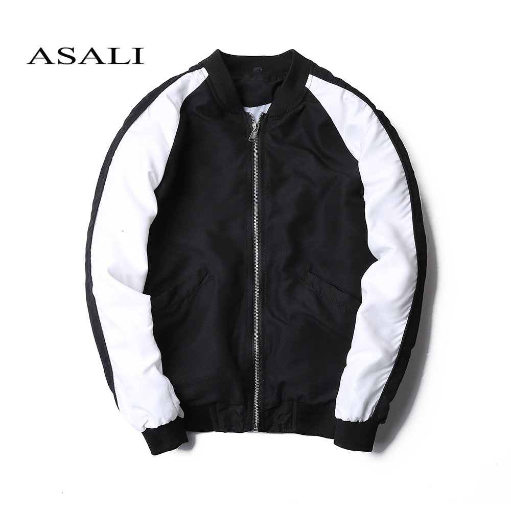2017 Spring New Fashion Design Patchwork Men's Bomber Jacket Coat Mens Sup Hip Pop Pilot Jackets Autumn Windbreaker Jacket Men