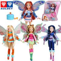 2016新しい到着4スタイルbelievix妖精& lovix妖精winxクラブの人形レインボーカラフルな女の子妖精ブルーム人形付きクラシックtoys