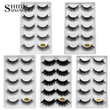 5/25 Pairs Mink Eyelashes 2019 Natural Long 3d Hand Made False Makeup Eyes drop shipping G700