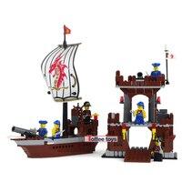 431 adet Korsan Gemi Blokları Merkezi Baz Oyuncak Tuğla Boys Enlighten Yapı Taşları Çocuk Boys Hediye DIY K0375-30007