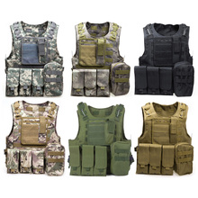 NEWEST Camouflage Hunting Military Tactical Vest Wargame Body Molle Armor Hunting Vest CS Outdoor Jungle Equipment with 7 Colors