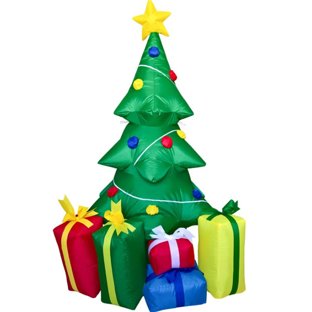 Christmas Tree Inflatable.240cm Air Inflatable Santa Claus Christmas Tree With 5 Gift Boxes Outdoors Christmas Decorations For Home Merry 2018 Christmas Decoration Themes