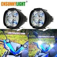 CNSUNNYLIGHT Super Bright 1000Lm Motorcycles Led Headlight Lamp Scooters Fog Spotlight 6500K White Working Spot Light