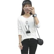 2016 New Women T Shirt Harajuku Kawaii Print Long Sleeve Autumn Women Top Korean Casual Cute Tshirt Camisas Femininas Blusa