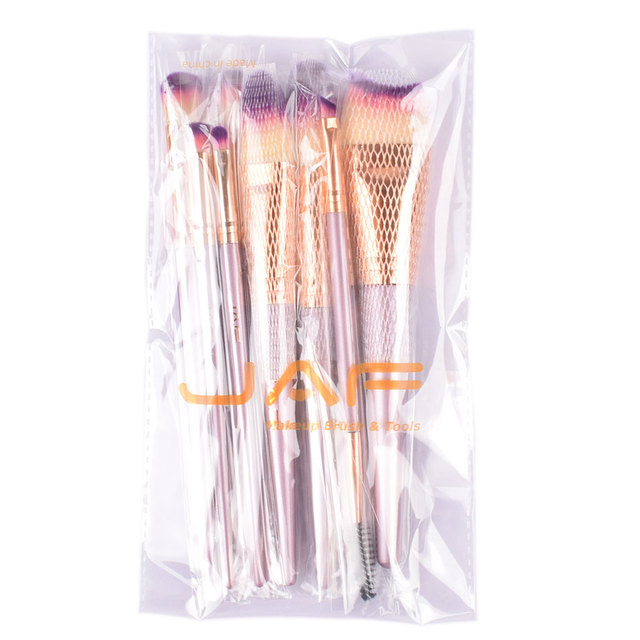 Purple Makeup Brushes 9 pcs Set