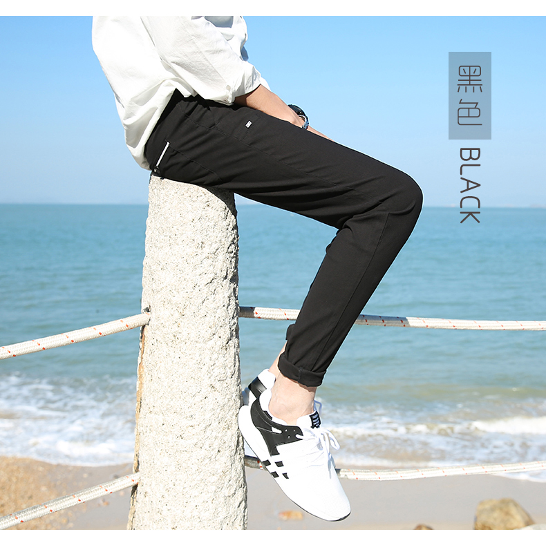 Casual Men Cotton Slim Fit Chinos Pants 3