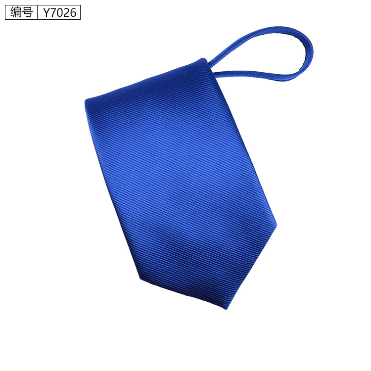 New 7cm Zipper Men Ties Business Fashion Style Slim Men Neck Tie Simplicity Design Solid Color For Party Lazy Formal Ties 11
