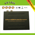 Adroit 2 Port HDMI Audio Extractor EDID mode HDMI Output Splitter 2 port Adapter Converter Optical FEB15 Support Dolby AC-3 DTS