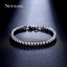 NEWBARK Hot Sale 38pcs CZ Bracelet Round 3mm Zirconia Prong Setting Sport Tennis Bracelets For Women Jewelry Gifts