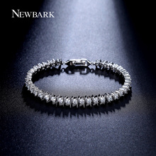 NEWBARK Hot Sale 38pcs CZ Bracelet Round 3mm Zirconia Prong Setting Sport Tennis Bracelets For Women