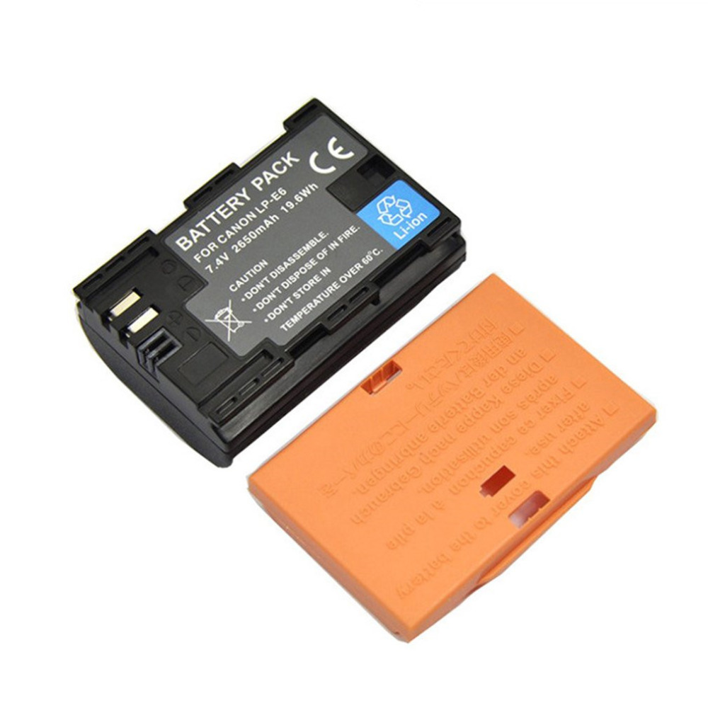 7.4V 2650MAH Digital Camera Battery Pack Rechargeable Battery Suitable for Canon EOS 5D2 5D3 6D 70D 7D 60D Black Drop Shipping