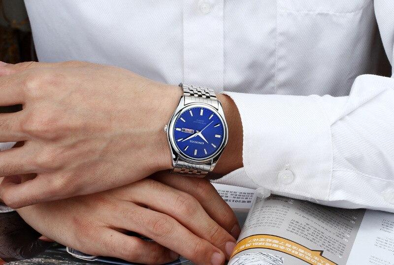 HTB1uT Op25TBuNjSspmq6yDRVXaj Kingnuos Brand New Design Business Man Watch Steel Waterproof Luminous Hour Date Week Clock Male Hodinky Quartz Men's Watch
