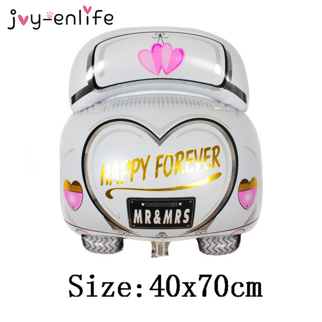 joy enlife 1pcs cartoon wedding car aluminum balloon decor wedding party mariage decor bridal shower