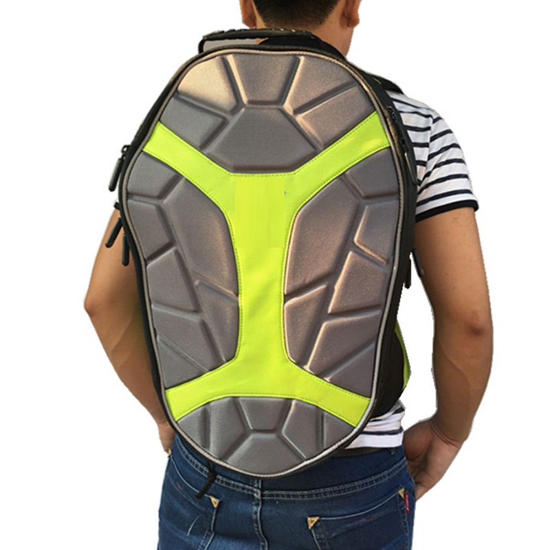 ФОТО large space motorcycle backpack Turtle shell designed with waist protection knight race motorcycle bags