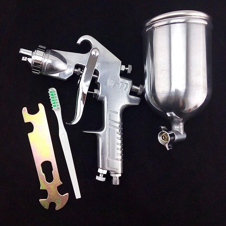 DIY pneumatic air tool spray paint gun W-77 nozzle 2.0mm/2.5mm/3.0mm/3.5mm/4mm  цены