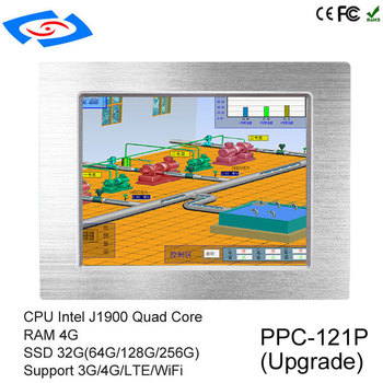 2018 Factory Price Fanless Touch Screen Embedded Industrial Panel PC With Intel Celeron J1900 Quad Core Application Bank ATM