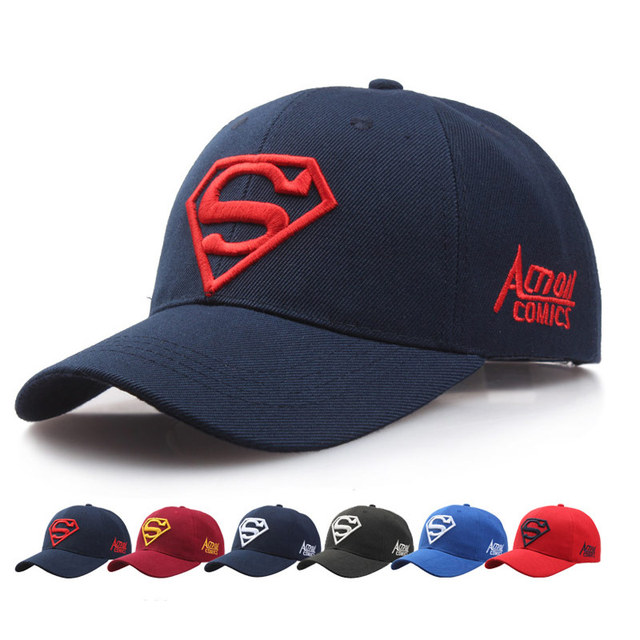 2017 NEW hot women popular Baseball Cap Red black men black make Pattern Superman cap Snapback Gorras High quality cap
