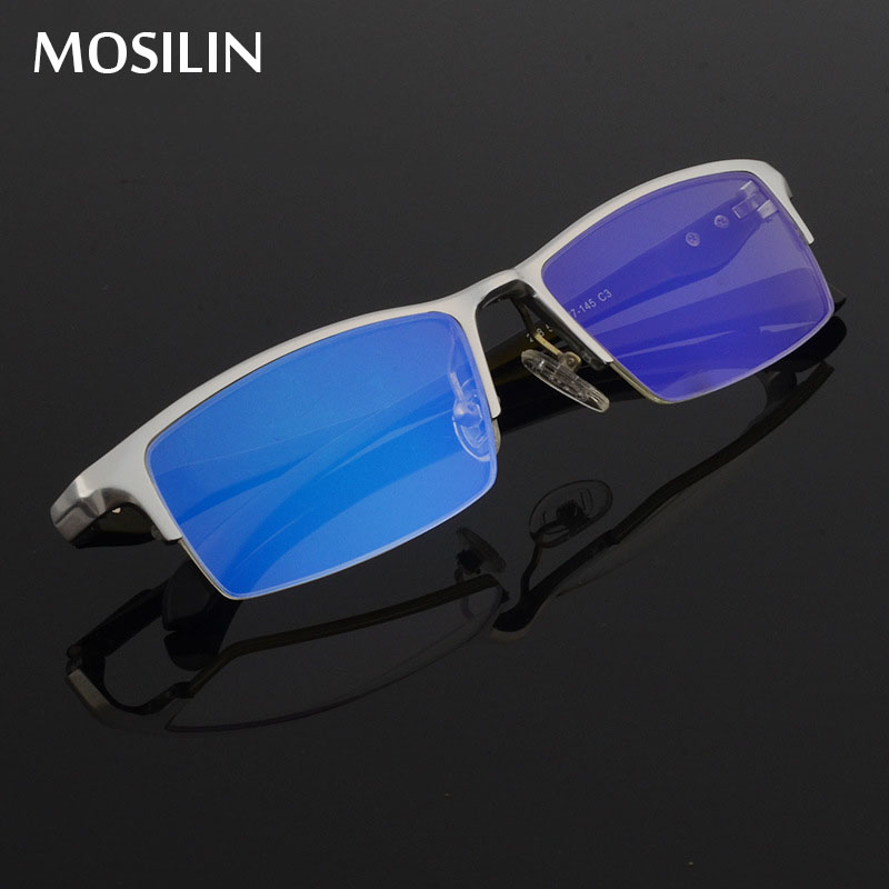 New Aluminum Magnesium Computer Glasses Anti Blue Light Blocking Filter Reduces Digital Eye Strain Clear Regular Gaming Goggles
