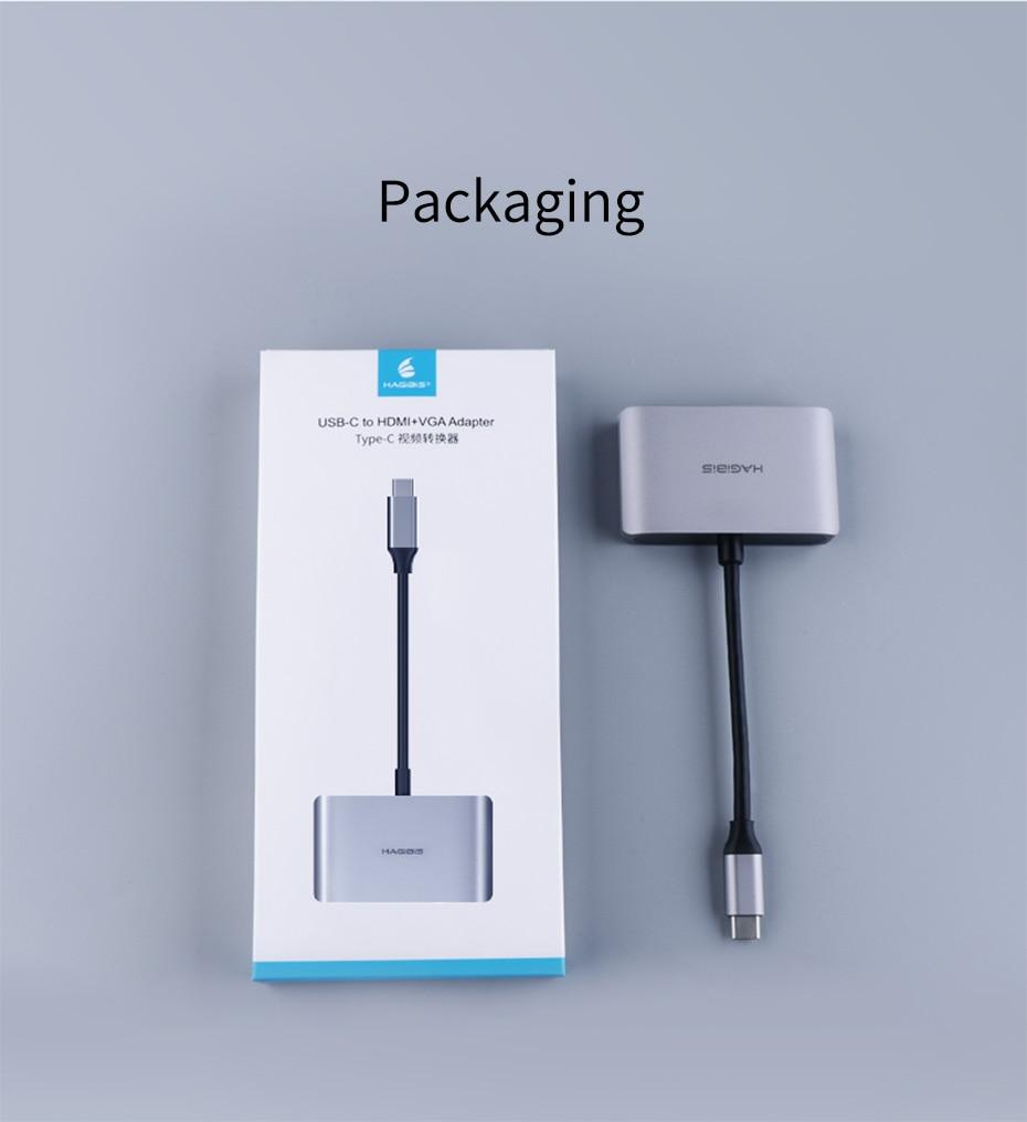 USB C to HDMI VGA 18