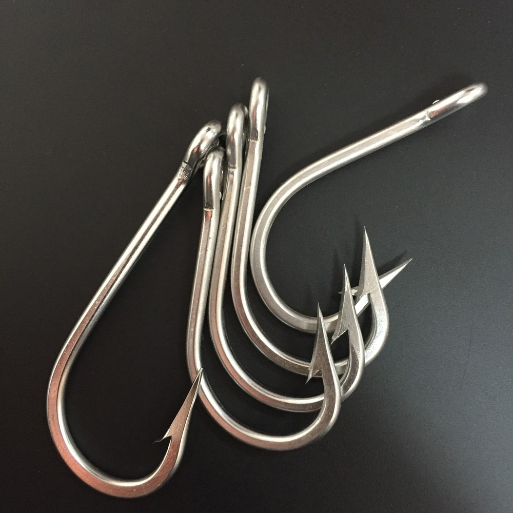 CN03 30 50pcs High Quanlity Stainless Steel Fishing Hook Mustad J Type Fishing Hook Big Game Fishing Hook Mustad Fish Hook