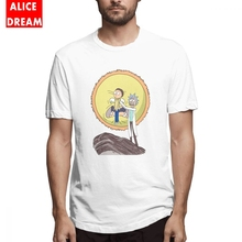 Science King Tee For Male New Rick and morty Camiseta Organic Cotton Pickle rick  Homme Shirt Birthday Gift