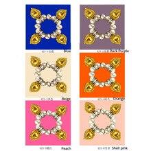 Women scarf neckerchief silk bandana hot jewelry pearl printed original elegant beauty square luxury lady best gifts