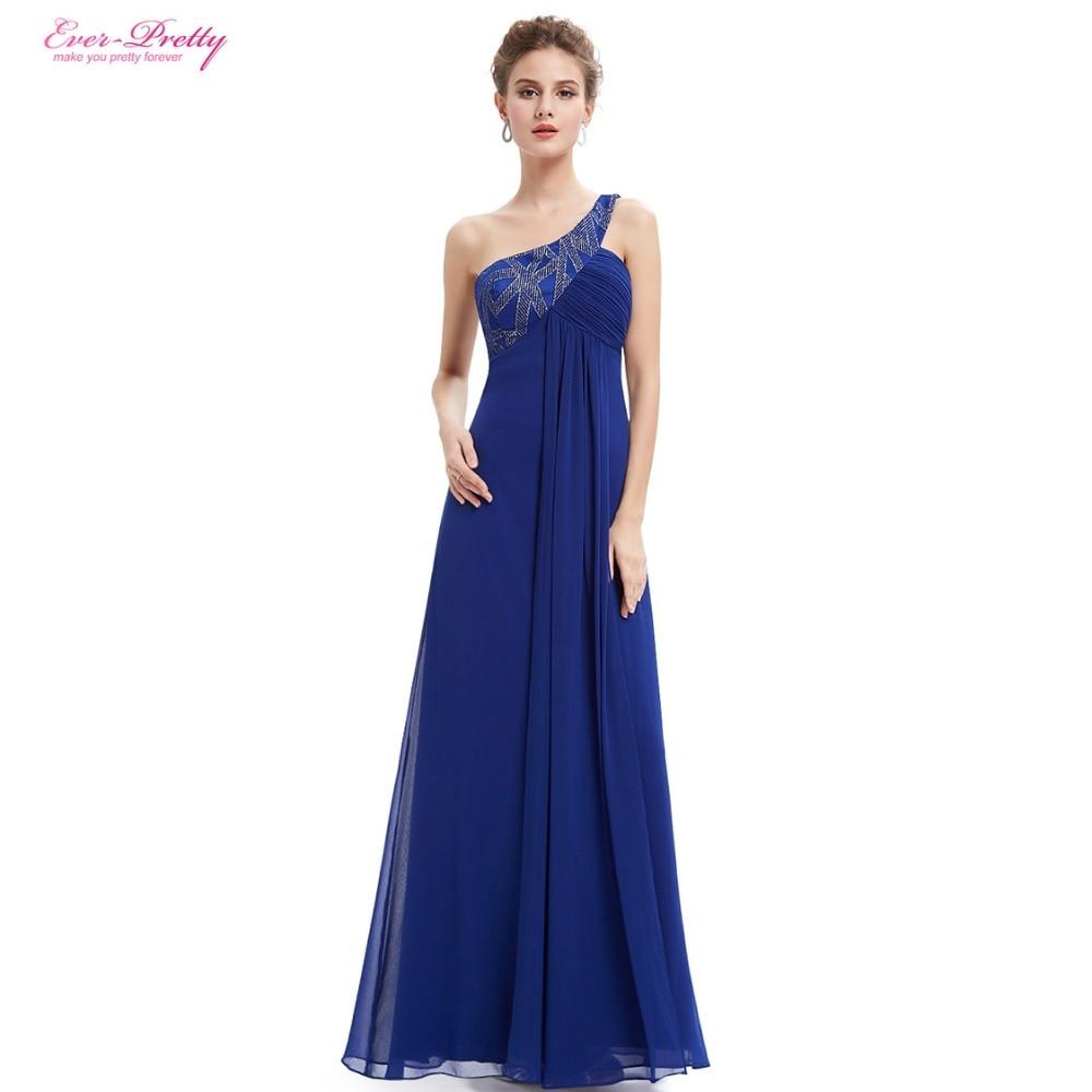 One Shoulder Formal Evening Dress