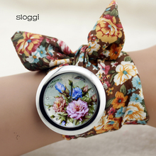 sloggi design  Girls flower fabric wristwatch style girls gown watch prime quality cloth watch candy ladies Bracelet  watch