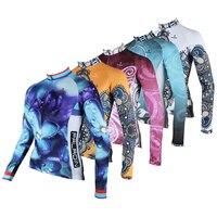 5 Estilo PALADINO Mulheres Jerseys de Ciclismo Primavera/Outono/Inverno Sportswear Ropa ciclismo Roupas de Manga Longa/Bicicleta MTB Topos de roupas