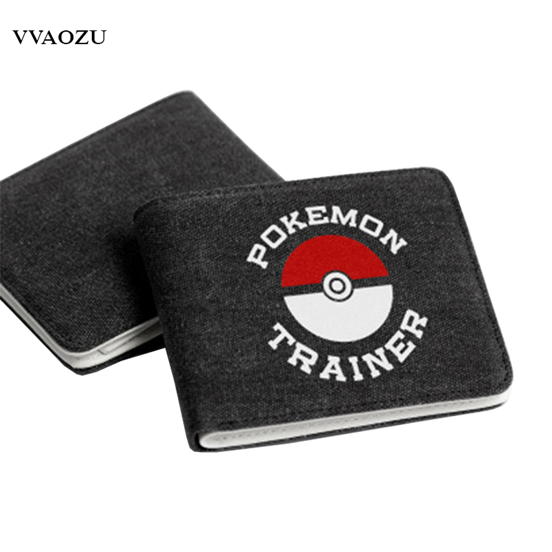 Anime Cartoon Retro Pokemon Go Multi Pockets Wallet For Teenager Women Men Pocket Monster New Designed Card Holders Purse japan anime pocket monster pokemon pikachu cosplay wallet men women short purse leather pu coin card holder bag