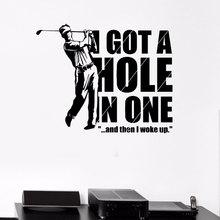أنيقة غرفة المعيشة الديكور صور مطبوعة للحوائط الرياضية الغولف لاعب لعبة الترفيه الفينيل ملصقات للجولف مروحة 3YD38