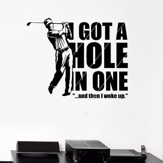 Elegancki salon dekoracje ścienne naklejki sportowe golfista gry rekreacyjne naklejki winylowe dla wentylatora golfowego 3YD38