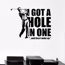 Elegant Living Room Decoration Wall Decals Sports Golf Player Game Recreation Vinyl Stickers For Golf Fan 3YD38