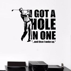 Image 1 - Elegante Wohnzimmer Dekoration Wand Decals Sport Golf Player Spiel Erholung Vinyl Aufkleber Für Golf Fan 3YD38