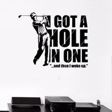 Elegante Woonkamer Decoratie Muurstickers Sport Golf Player Game Recreatie Vinyl Stickers Voor Golf Fan 3YD38