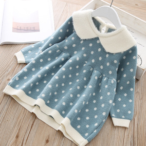 Newborn Girls warm Dress Cute autumn winter New Baby Knitted Clothes Infant Toddler Tops Shirts for girl wool Christmas Dresses(China)