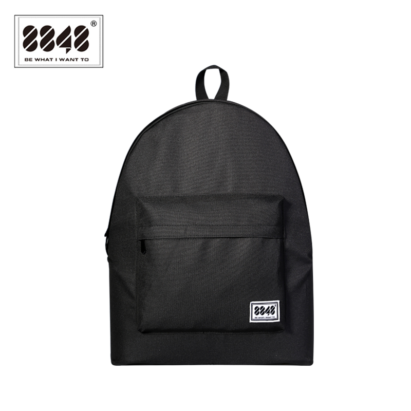 Black Backpack Casual Travel Shopping 15 L Capacity Resistant High Quality School Bags Simple Solid Pattern