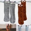 Nueva infantil chicos niñas medias lindo fox del patrón de los bebés de las medias de las medias de tres coclor