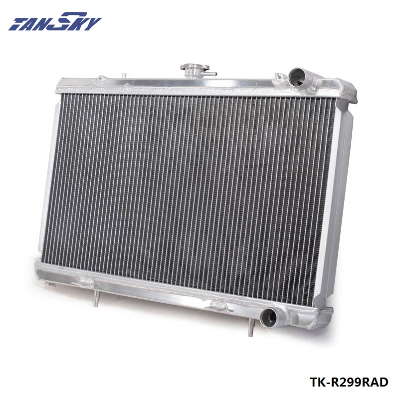цена на For 89-93 Nissan Skyline R32 RB25 RB20 Aluminum Race Radiator 2 Row MT Manual 50MM TK-R299RAD