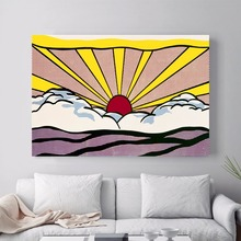 Landscape Sunrise Pop Art Canvas Print Painting Poster Wall Pictures For Kids Room Home Decoration Decor No Frame