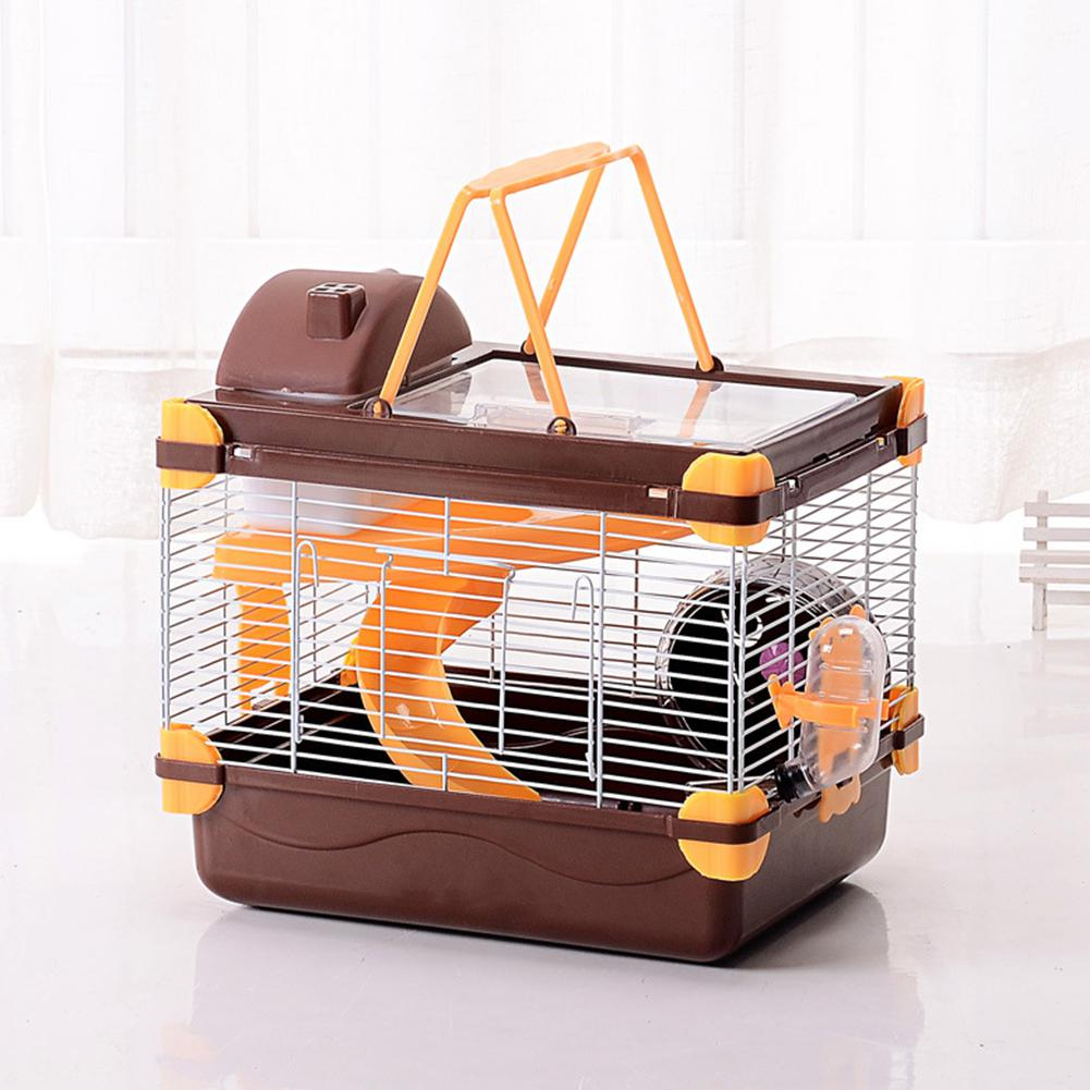 Yfashion Hamster Cage Deluxe Portable Cage Of Guinea Funny Acrylic Small Pets Mouse House With Hamster Hedgehog
